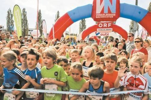 """Rund 3700 Kinder und Jugendliche beteiligten sich an der sechste Auflage des """"Vorarlberg bewegt""""-Kindermarathons."""
