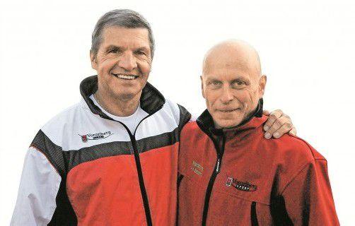 Sportlandesrat Siegi Stemer (l. ) und Martin Keßler. Foto: akp