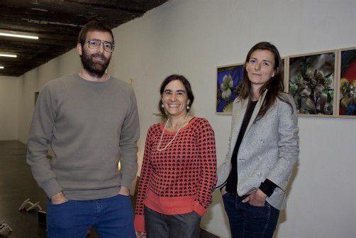 Stellt in Bregenzer Galerie Werke zur Schau: das Künstlertrio Vincente Vázquez (l.) mit Nerea de Diego und Usue Arrieta. FotoS: FRANC