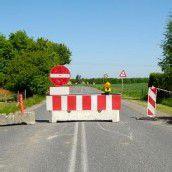 Straßensperre in Riefensberg