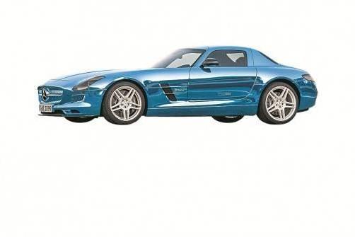 Superstark, superschnell und superteuer. Der Mercedes SLS AMG Electric Drive kostet 420.000 Euro. Foto: Werk
