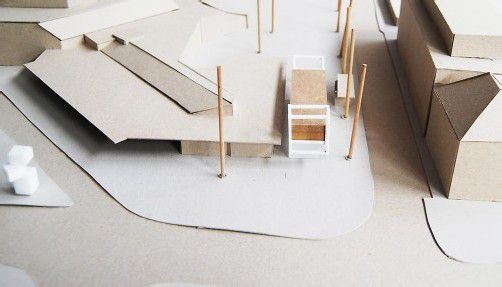 Umgebungsmodell der neuen Servicestelle. Foto: stadt dornbirn