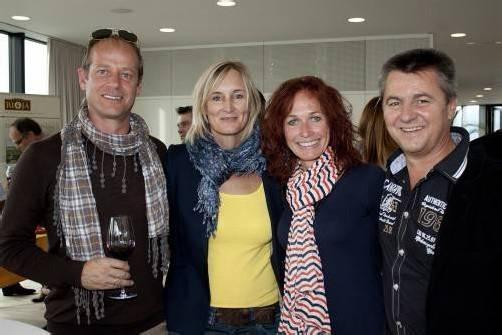 Unter den Weinfans: Gerhard und Christine Bösch (l.) sowie Klaus und Maria Herburger. Fotos: FRANC