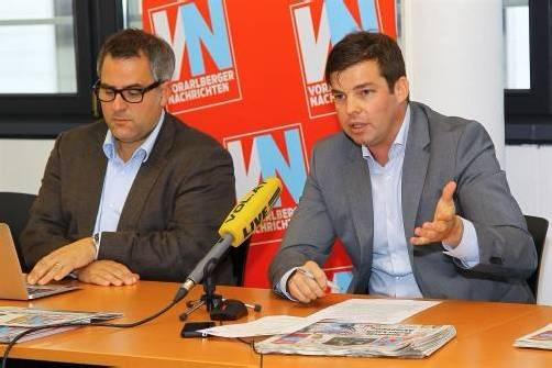 VN-CR Christian Ortner (l.) und Mathias Burtscher. Foto: vn/hofmeister