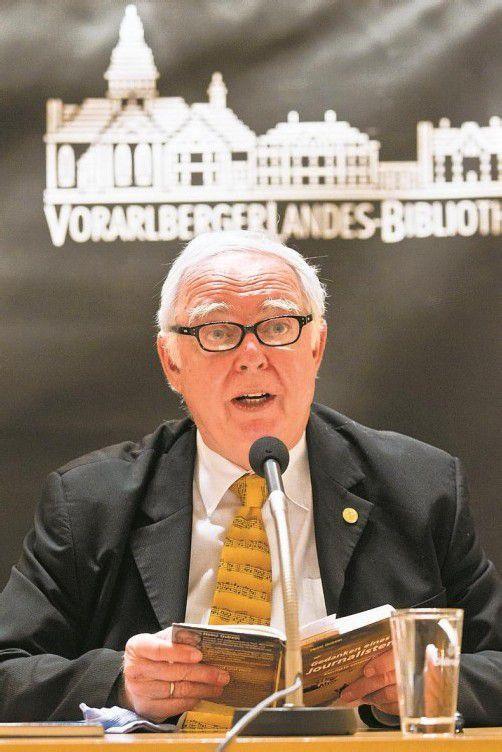 VN-Korrespondent Heinz Gstrein am Donnerstag in Schaan.