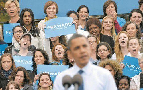 Vor vier Jahren stimmten 56 Prozent der Wählerinnen für Obama. Foto: ap
