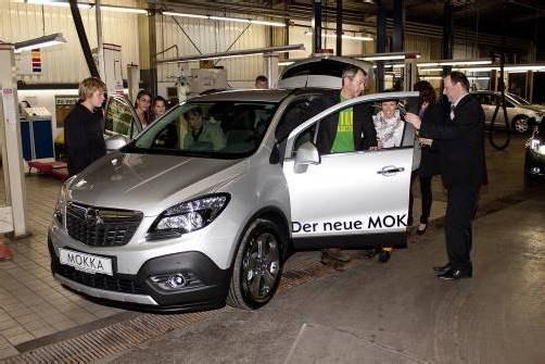 Vorarlberg-Premiere: Opel Mokka als Publikumsmagnet.