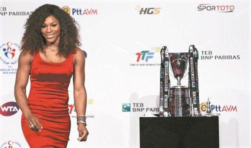 Vorstellung in Istanbul: Serena Williams. Foto: ap
