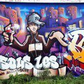 Graffitis im Rathaus
