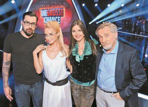 Wer statt Sido neben Karina Sarkissova, Zabine und Peter Rapp Platz nimmt, ist noch unklar. Foto: ORF
