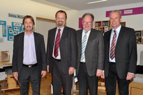 Wollen die Zusammenarbeit ausbauen: Fritz Maierhofer, Rainer Siegele, Werner Huber und Gottfried Brändle.