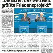Friedensnobelpreis für die EU!