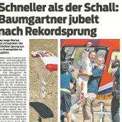 Felix Baumgartners Sprung