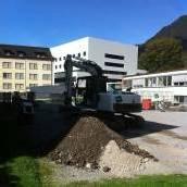 Bauarbeiten für Parklandschaft sind gestartet