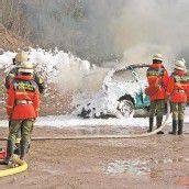 Montafoner Feuerwehr-Nachwuchs übte den Ernstfall