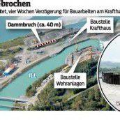 Dammbruch bei Kraftwerk-Baustelle