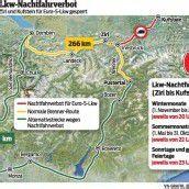Unsere moderne Lkw-Flotte ist in Tirol gar nichts wert