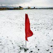 Wintereinbruch führte im Vorarlberger Fußball zu mehreren Spielabsagen