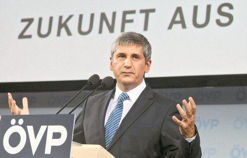 ÖVP-Chef Michael Spindelegger stellte sich in seiner Grundsatzrede auf die Seite der Vermögenden und der Wirtschaftstreibenden. Foto: DAPD