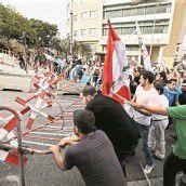 Schwere Krawalle bei Trauerfeier in Beirut