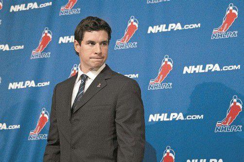 Überlegt nach den gescheiterten Verhandlungen mit den Klubbesitzern einen Umzug nach Europa: Pittsburghs Star Sidney Crosby. Foto: ap