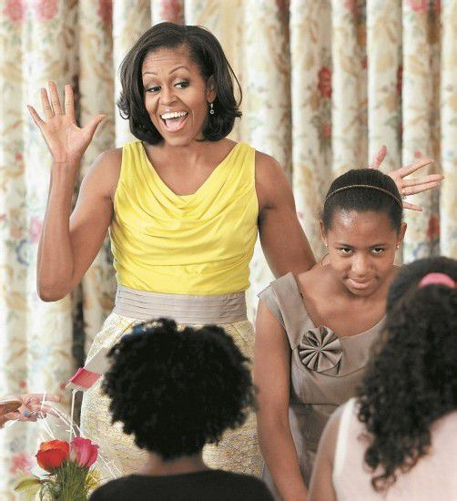 Als Gastgeberin im Weißen Haus: Michelle Obama. Foto: AP