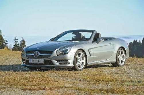 Aluminium-Karosserie: Der Mercedes SL 500 verbindet Sportlichkeit und höchstem Komfort. Fotos: VN/Gasser