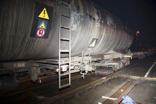 Aus diesem Waggon wollte der Arbeiter Heizöl abpumpen. foto: Mathis