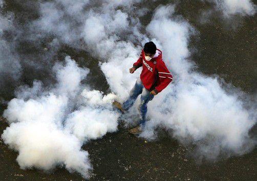 Ausschreitungen in Ägypten: Wieder Tränengas am Tahrir-Platz.