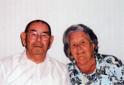 Das Ehepaar an ihrem 60. Hochzeitstag.