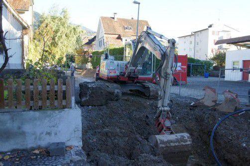 Das Kanalnetz an der Eisengasse wird erneuert. Foto: eh