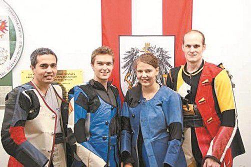 Das Quartett der USG Hard (v. l.): Rainer Kremmel, Thomas Mathis, Tamara Rusch und Gerhard Muxel. Foto: Privat