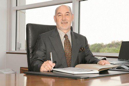 Der Feldkircher Manfred Dönz an seinem Arbeitsplatz bei Siemens in Kanada.