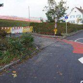 Anschluss für Radweg an der Reichsstraße