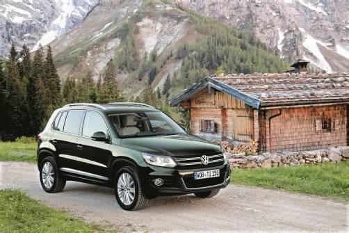 Der VW Tiguan, kleiner Bruder des Touareg, ist optisch genauso zurückhaltend wie beim Treibstoff-Verbrauch.