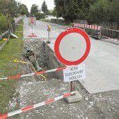 Kapfstraße in Feldkirch bald wieder befahrbar