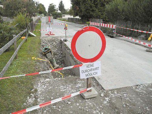 Derzeit sind die Bauarbeiten noch im Gange. Ende dieses Monats wird die Kapfstraße wieder für den Verkehr freigegeben. Foto:SM