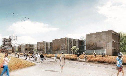 Die Kokerei in Essen – in unmittelbarer Nachbarschaft zur Zeche Zollverein – wird ein attraktives Büroquartier. Fotos: Untertrifaller/Dietrich