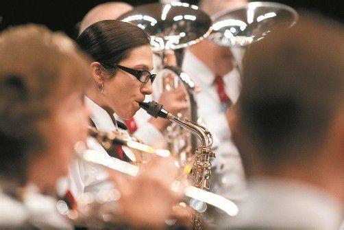 Die Polizeimusik Graubünden hat gestern die Vorarlberger Freunde gefeiert. Foto: VN/Steurer