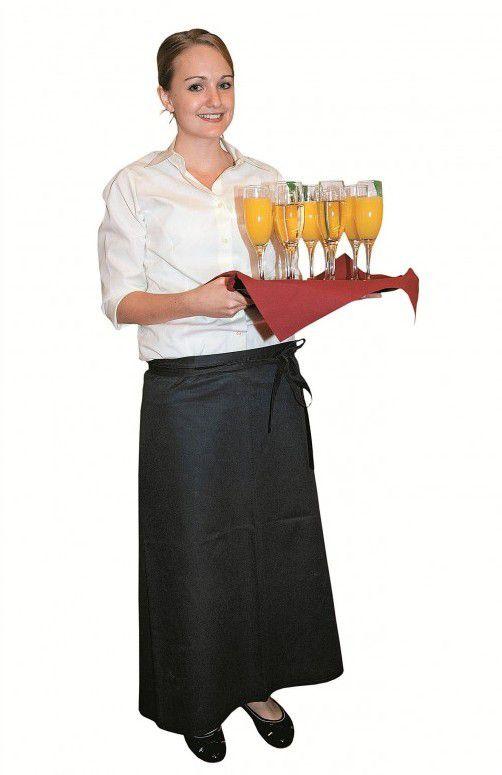 Die Servicelady servierte für Gästeschar Eröffnungssekt.