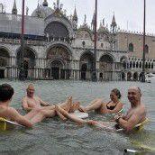 Venedig steht zu 70 Prozent unter Wasser