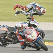 Lorenzo stürzte, Marquez flog