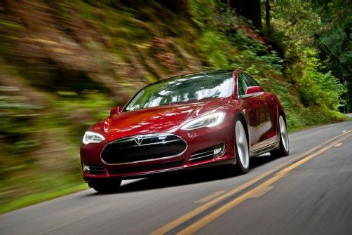 Elektroauto Tesla S: 0 auf 100 km/h in 4,6 Sekunden, Spitze 210 km/h, Reichweite 500 Kilometer. Foto: werk