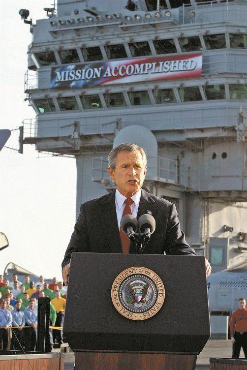 Ex-US-Präsident George W. Bush führte die USA in den Afghanistan-Krieg. Am 1. Mai 2003 erklärte er die Mission für beendet. Foto: AP