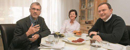 Familienbande bei Harald Walser und Karlheinz Kopf. Wenn nur die Politik nicht wär'. Foto: vn/hartinger