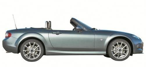 Feinschliff für den Mazda MX5 mit einer neuen Frontpartie, die für mehr Sicherheit sorgt. Preise: ab 23.990 Euro. Foto: Werk