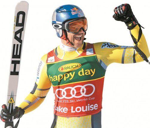 Freut sich über den Sieg im Super-G: Aksel Lund Svindal. Foto: ap