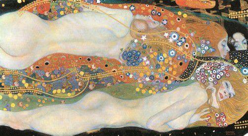 """Gustav Klimt: """"Wasserschlangen II"""", 1904, Öl auf Leinwand (Ausschnitt), Privatsammlung. Fotos: akg-images/Taschen Verlag, Leopold Museum"""