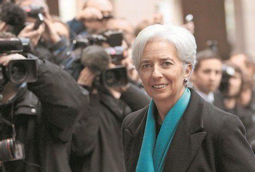 IWF-Chefin Lagarde nahm gestern an den Verhandlungen um die Freigabe längst fälliger Milliardenhilfen für Griechenland teil. Foto: EPA