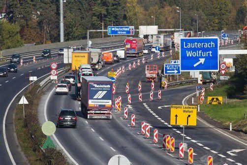 Im Laufe der Woche wird auch die baustellenbedingte Verkehrsführung abgebaut. Foto: VN/Steurer